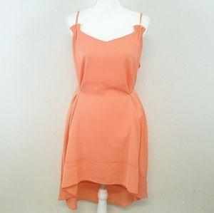 Arloh Peach High-Low Dress